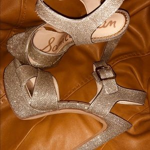 Silver Sparkle high heel